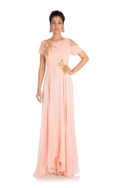 Anushree Agarwal Light Blush Peach Dress