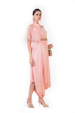 Anushree Agarwal  Peach Draped Indo-Western Dress