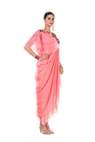 Anushree Agarwal Pink Draped Indo-Western Dress