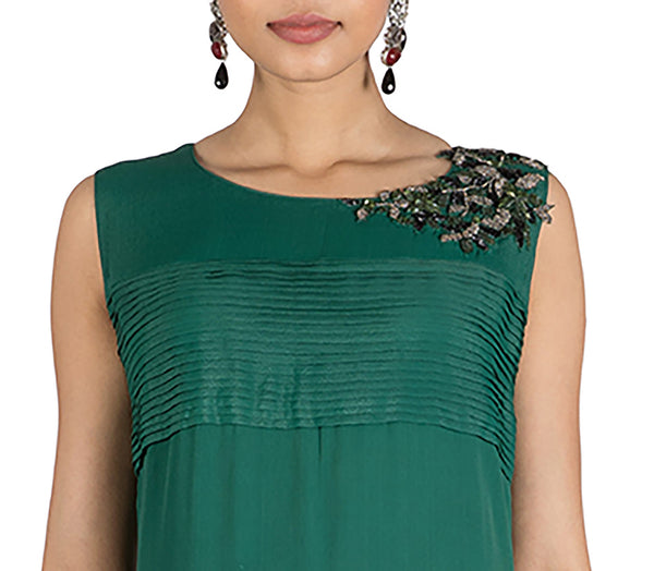 Anushree Agarwal Pine Green Tunic