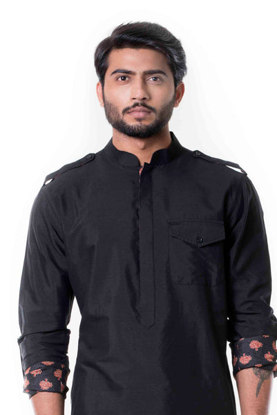 Anju Agarwal Black Pathani Set