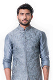 Anju Agarwal Grey Kurta With Waist Coat