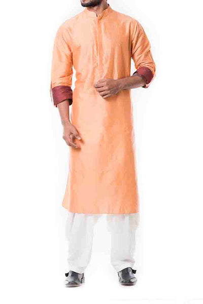 Anju Agarwal Peach Pathani Set