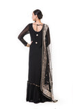 Anju Agarwal Black Anarkali Suit Set
