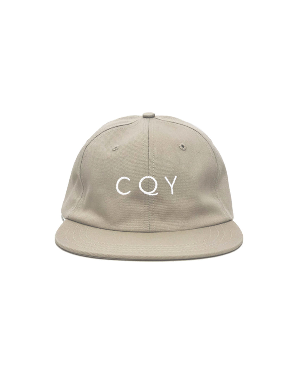 CQY Logo Dad Hat - Natural