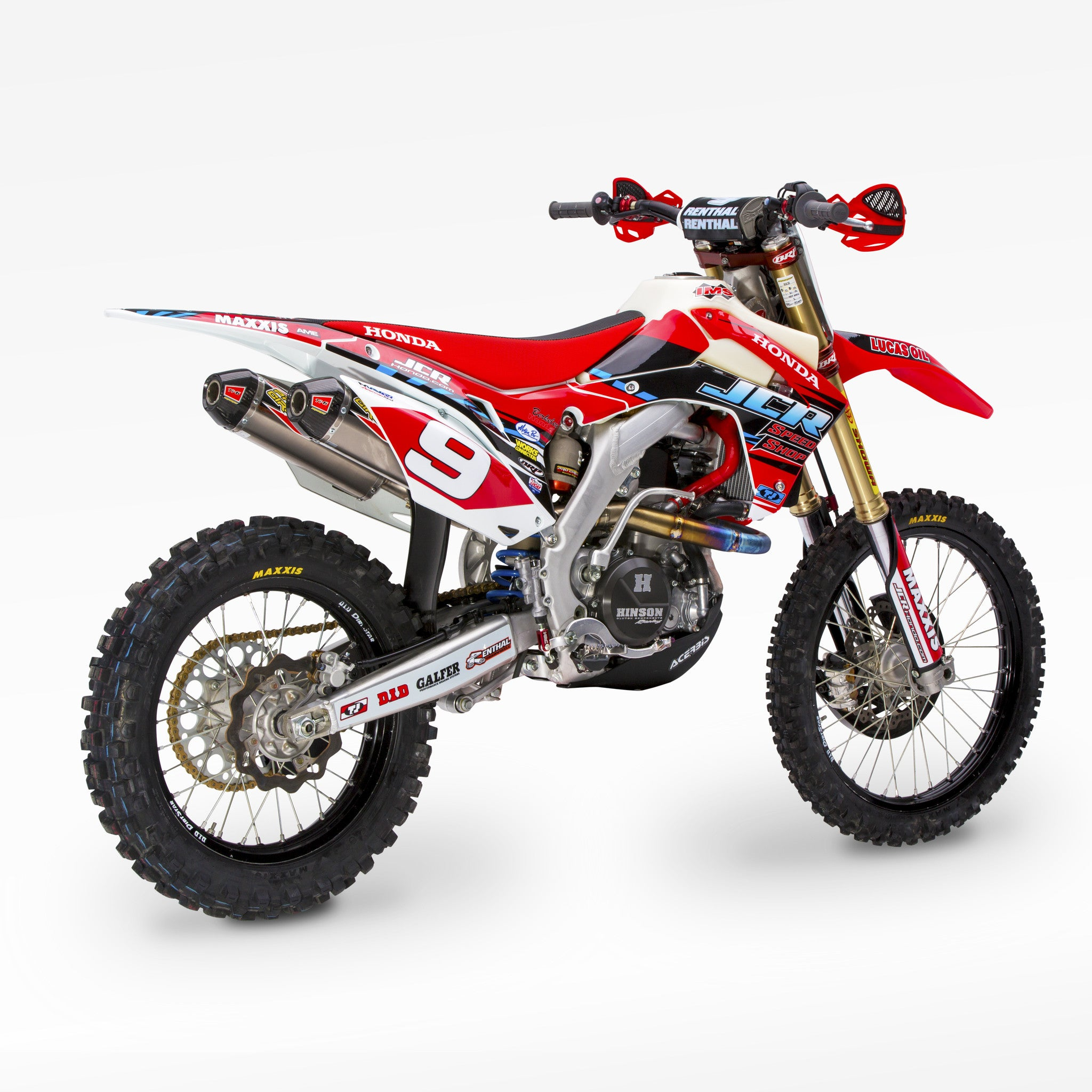 JCR Honda 2015 Race Replica Graphic Kit with number plate backgrounds