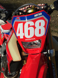 JCR Honda 2020 graphic kit with number plate decals