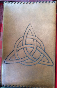 Celtic Trinity Knot Leather sleeved book