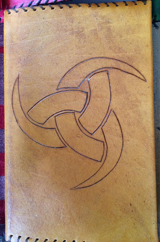 Triskele (Odins Horn) Leather Sleeved Book