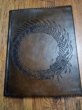Load image into Gallery viewer, Ouroboros Large Leather sketch book