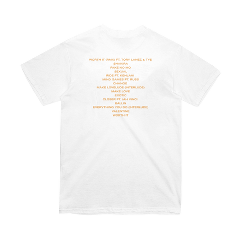 White Tracklist T-Shirt + Digital Album