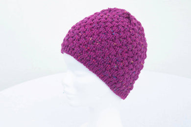 Aran Berry Stitch Knitted Donegal Hat (choose from 6 colours)