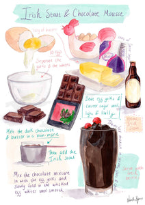 Irish Stout Chocolate Mousse Recipe Print