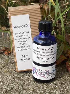 Achy muscle massage oil