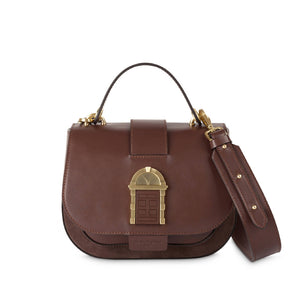 Crossbody Door Bag Chocolate Brown