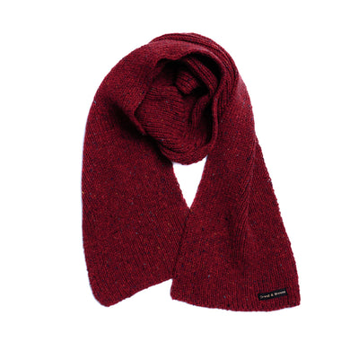 Upswell Red - Merino Wool Knit Scarf