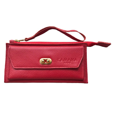 Sasha Leather Wallet (Cherry)