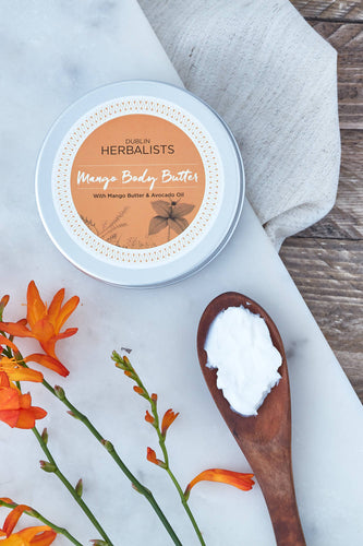 Dublin Herbalists Mango Body Butter- With Mango Butter and Avocado Oil