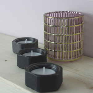 IRON TEA LIGHT HOLDER X 3