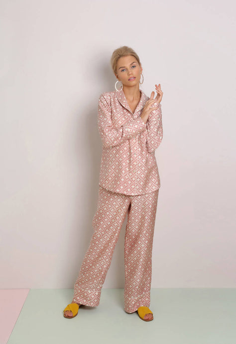 Mulberry Silk Pyjamas Leh Blush