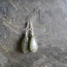 Load image into Gallery viewer, Connemara Marble bead earrings with Sterling Silver