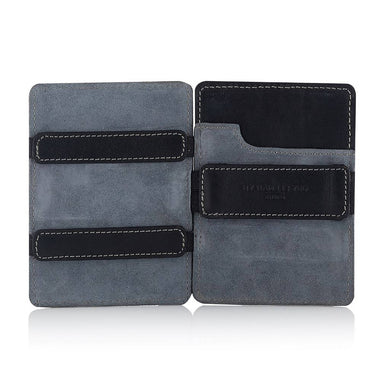 Magic Wallet Black with Luxury Grey Suede