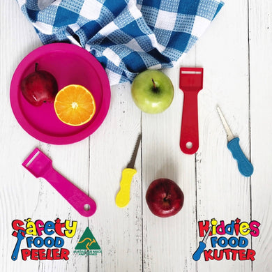4 pack Kiddies Food Kutter and Safety Food Peeler