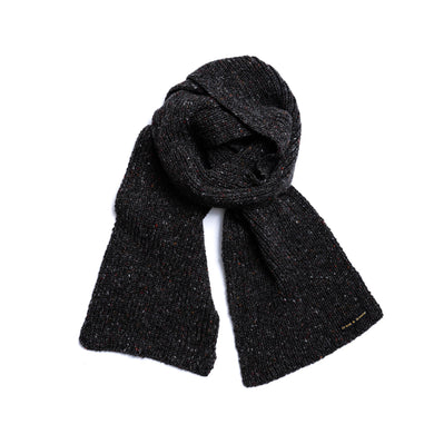 Speckled Iron - Merino Wool Knit Scarf