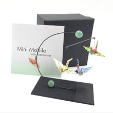 Load image into Gallery viewer, Mini Origami Crane Mobile With Gemstones