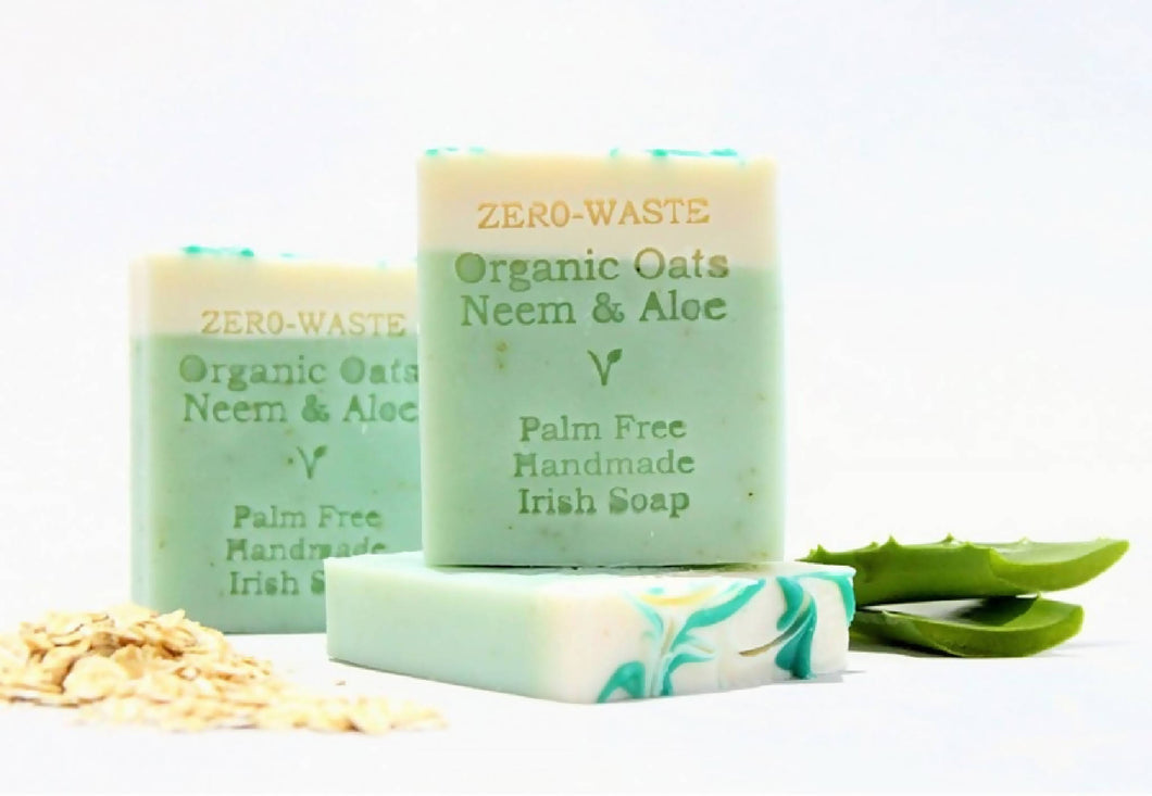 Palm Free Irish Soap, Gentle Cleansing Organic Oatmeal, Neem & Aloe