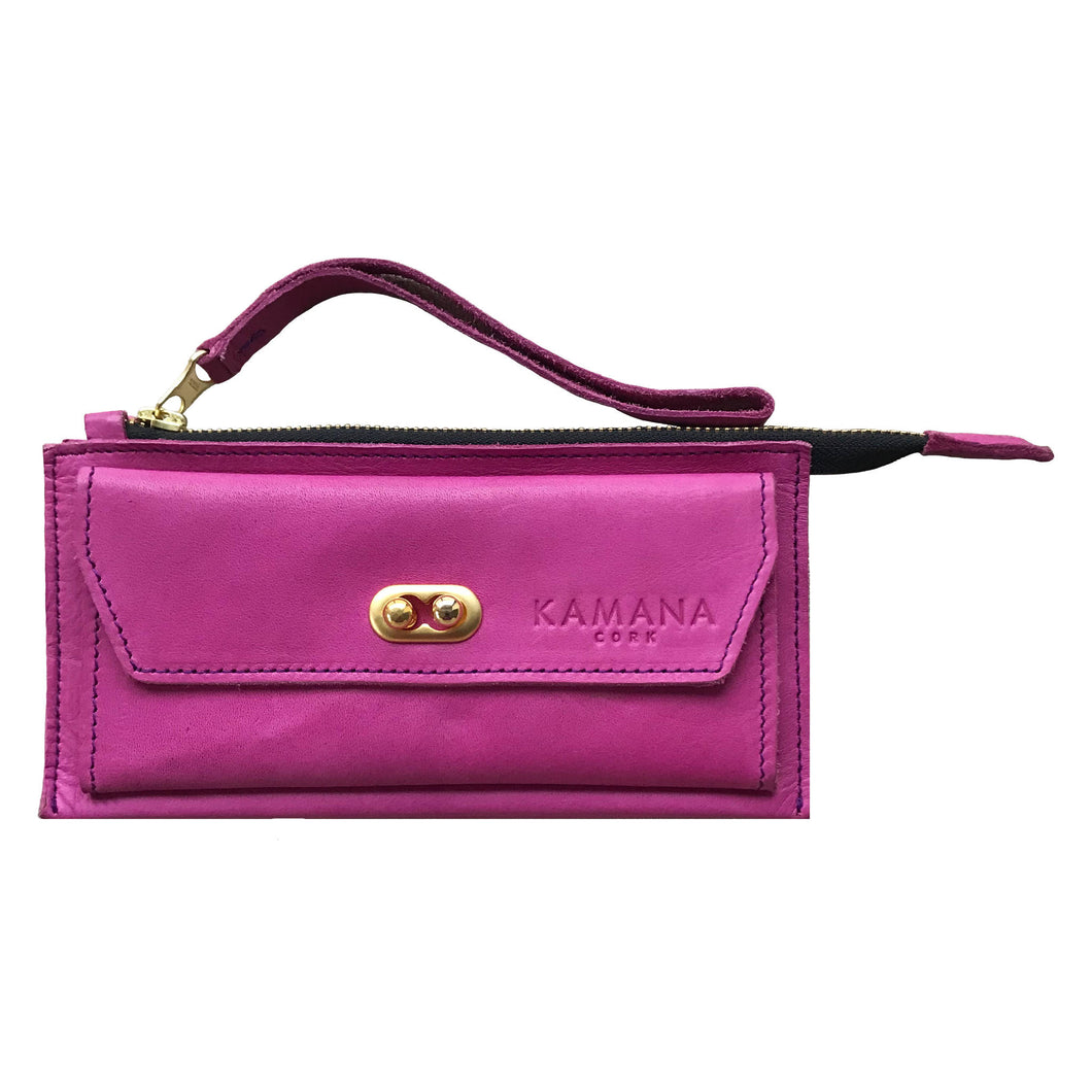 Sasha Leather Wallet (Purple)
