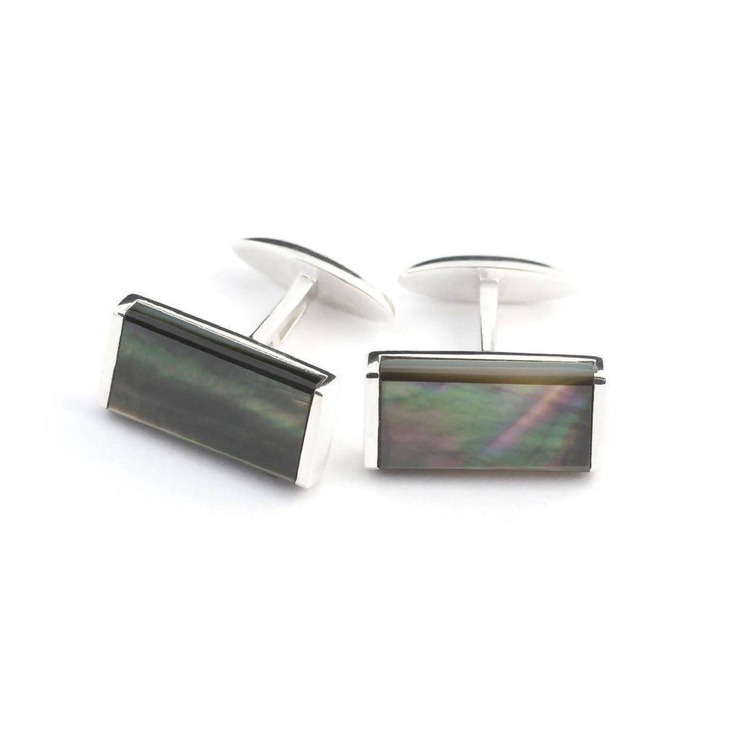 Bailey Cufflink Tahitian Black Mother of Pearl