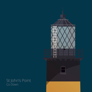 St. John's Point Down Lighthouse - art print