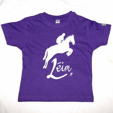 Load image into Gallery viewer, Kids Irish Language Horse Jump T-Shirt