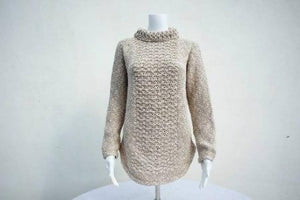 Ladies Berry Panel Sweater