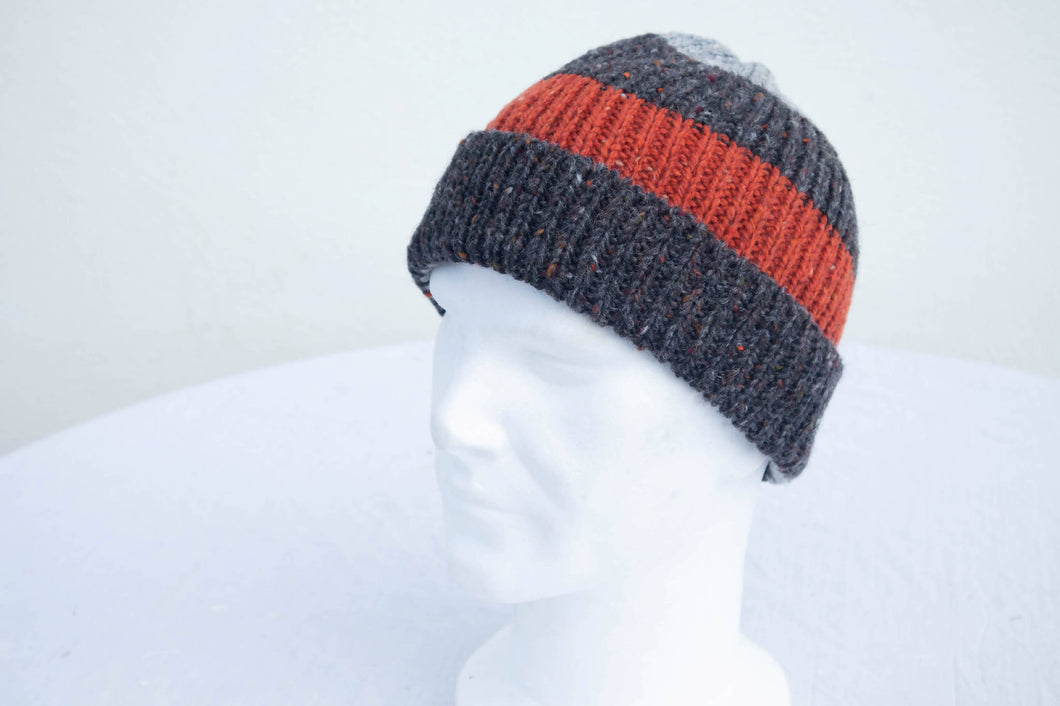 Striped Knitted Donegal Hat