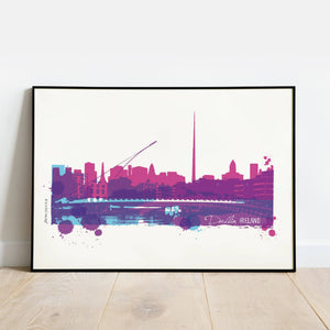 Dublin City Silhouette Digital Print