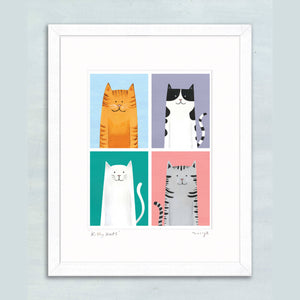 Kitty Kats giclee print 11 x 14""