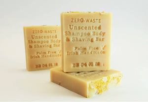 Palm Free Irish Soap, Pure & Gentle Unscented Shampoo Bar