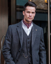 Load image into Gallery viewer, Behan Grey Tweed Classic Jacket