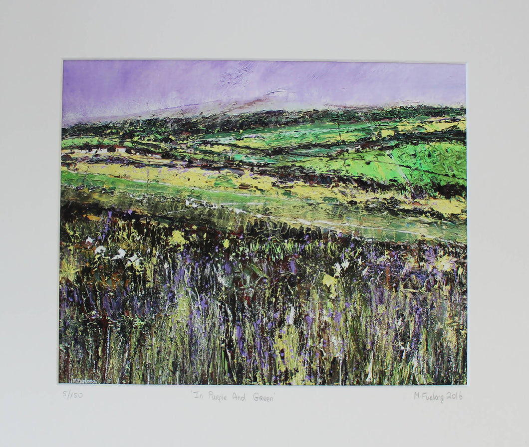 In Purple And Green - Limited edition print of an original painting