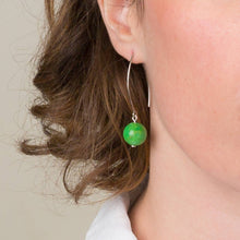 Load image into Gallery viewer, Gold or Silver Orb Drop Earring Collection: choose from 3 gemstones