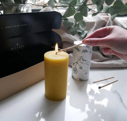 Beeswax Pair | Pillar Candles