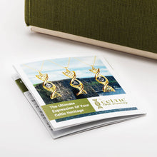 Load image into Gallery viewer, Celtic DNA Trinity Earrings 14K Yellow Gold