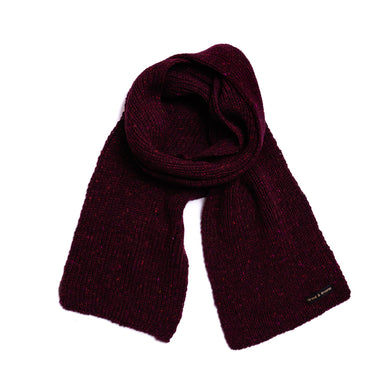 Crimson - Merino Wool Knit Scarf