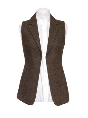 Ladies Brown Tweed Gilet