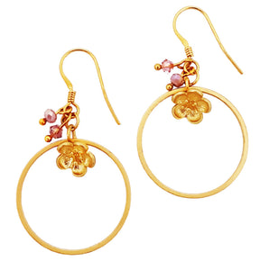 Little Flower Bud Loop Earrings