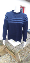 Load image into Gallery viewer, Mens Striped Crew Neck Sweater