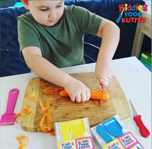 Load image into Gallery viewer, 2 Pack Safety Food Peeler & Kiddies Food Kutter Set