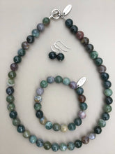 Load image into Gallery viewer, Indian Agate Necklace, Bracelet and Earrings